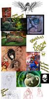 Sketchdump of DOOM by Grypwolf