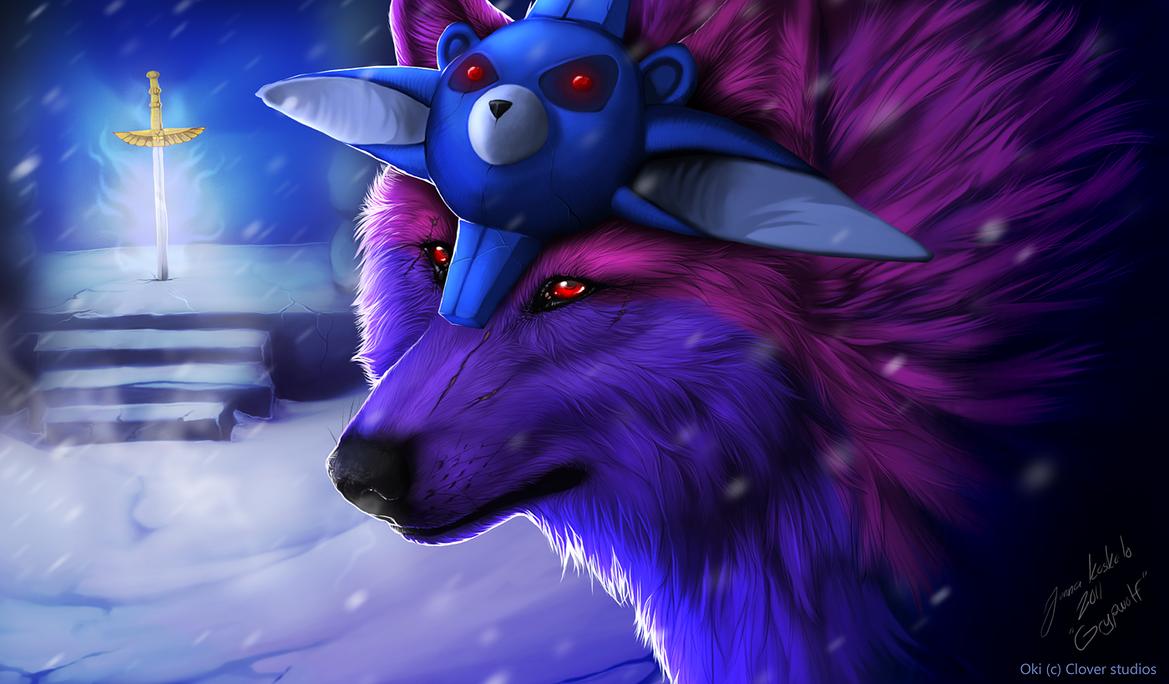 Okami - Protect Kamui by Grypwolf