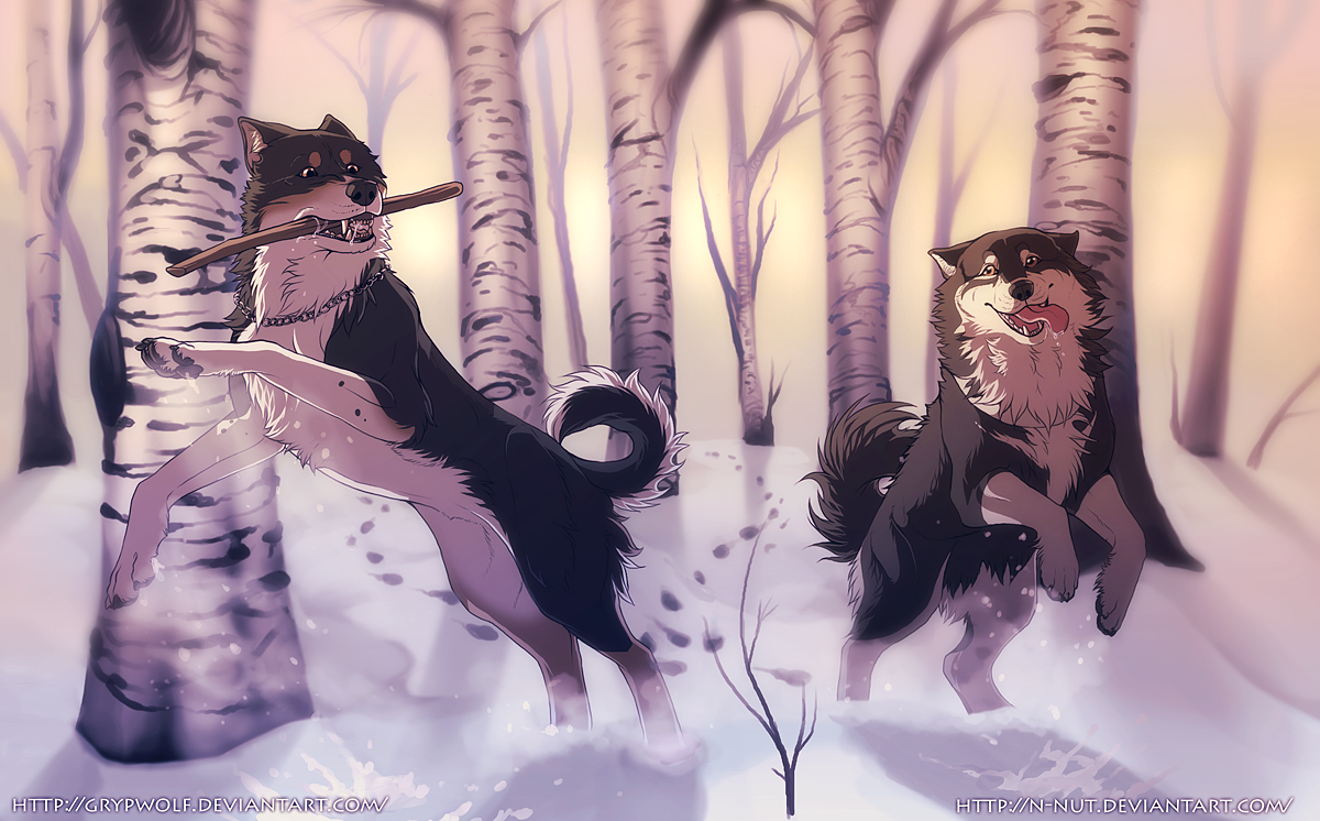 Silent Winter Childrens by Grypwolf