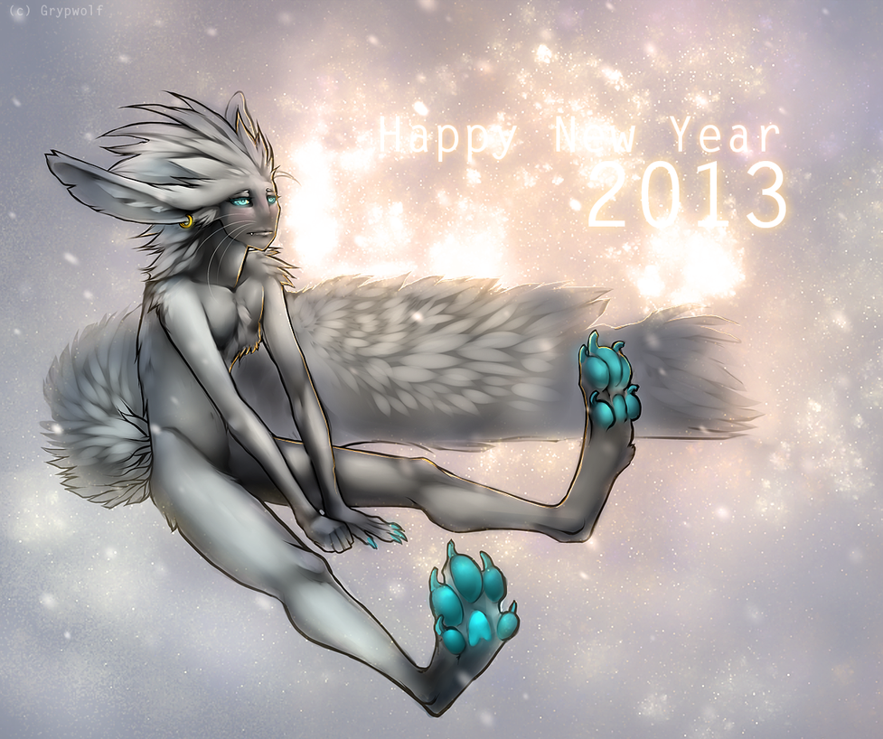 Happy New year 2013! by Grypwolf