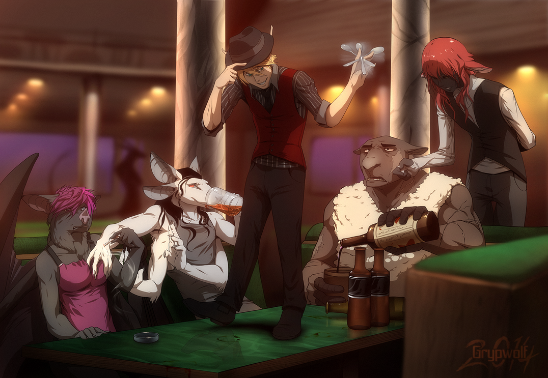 Roadhouse Barbarians by Grypwolf