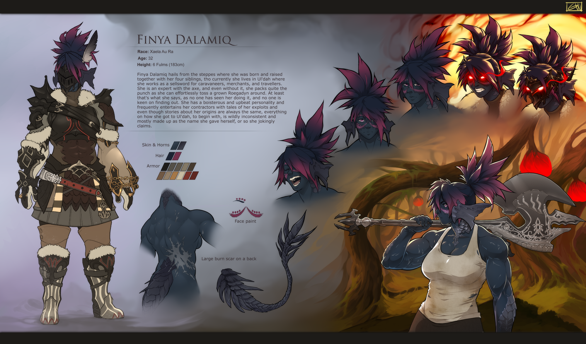 Finya reference sheet
