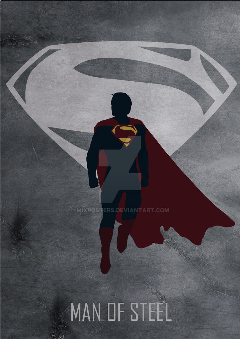 Man Of Steel Movie Poster By MIXPOSTERS