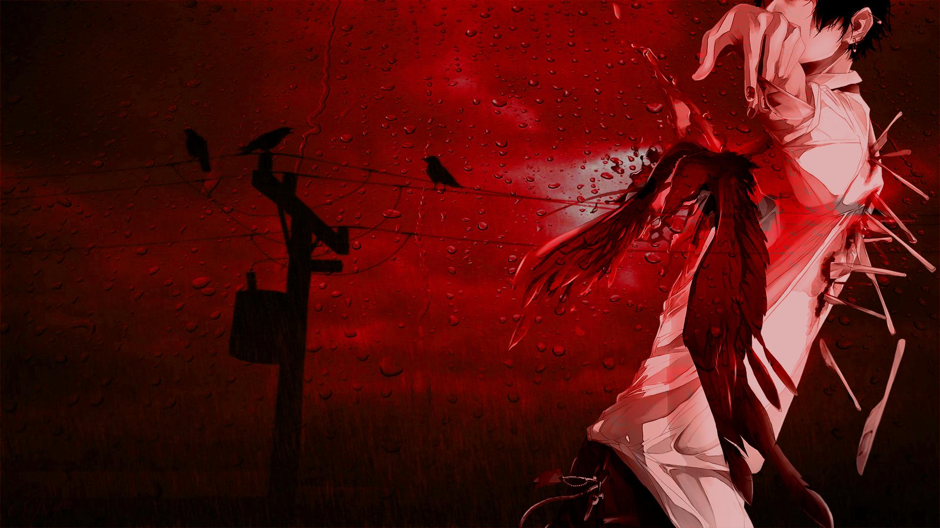 Anime Boy Crow Wallpaper by Nyanashii on DeviantArt