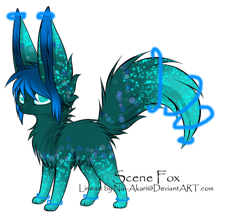 Scene Fox Adoptable ~ 4 [CLOSED] by BiahAdopts