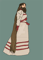 Bearded lady by SiobhanHardy