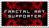 Fractal Art Supporter Stamp by SquallxZell-Leonhart