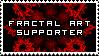 Fractal Art Supporter Stamp by SquallxZell-Leonhart