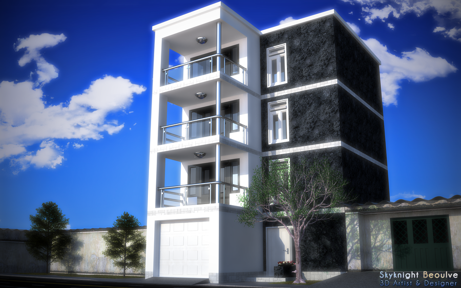 Cool house design for hot climates by skyknightb on deviantart for Interesting house designs