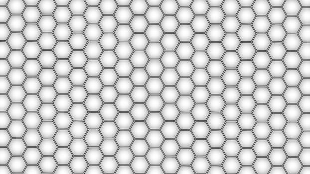 Hex Grid Black