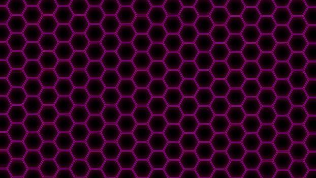 Hex Grid Purple