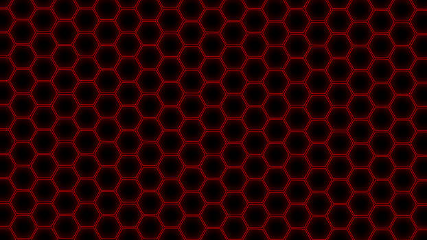 Hex Grid Red