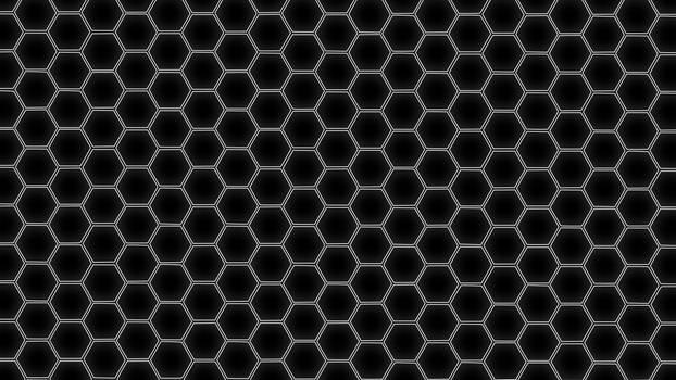 Hex Grid White