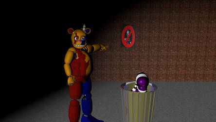(C4D) No NSFW Animatronics Allowed at the diner by GoldenAdrien