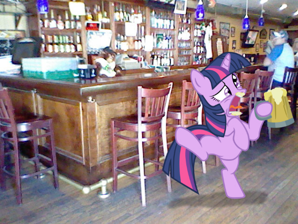 Twilight Sparkle out for a drink by Paris7500