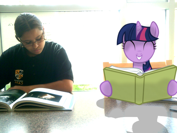 Twilight Sparkle reading with a friend by Paris7500
