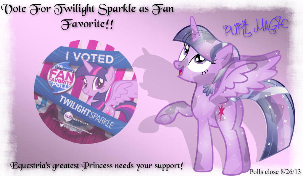 Vote For Twilight Sparkle as Fan Favorite by Paris7500