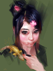 Her new pet by zhuzhu