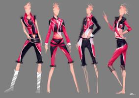 Fashion Ladies Detailing by zhuzhu