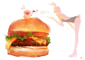 Hamburger by zhuzhu