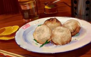 Shengjian Shanghai steamed bread by zhuzhu