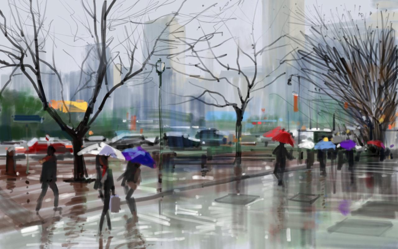 Raining Day By Zhuzhu On Deviantart