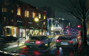 Raining night by zhuzhu