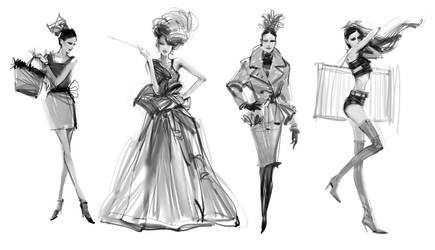 Fashion4 Sketch 2014 by zhuzhu