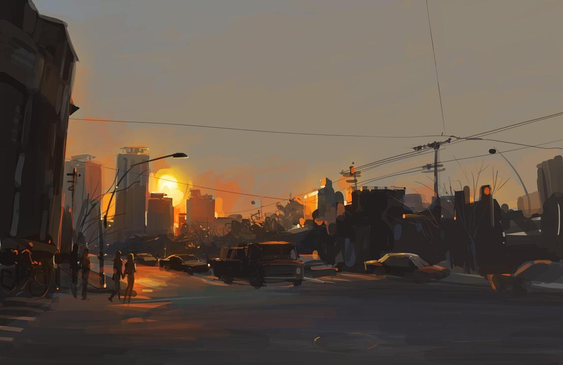 sundown by zhuzhu