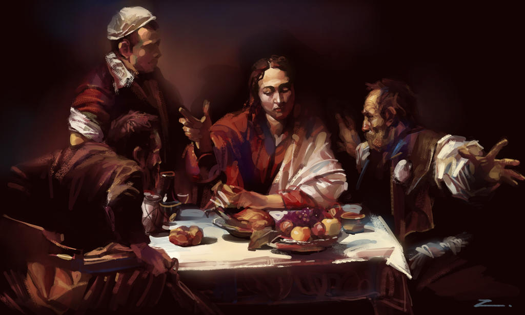 Study from caravaggio by zhuzhu on deviantart