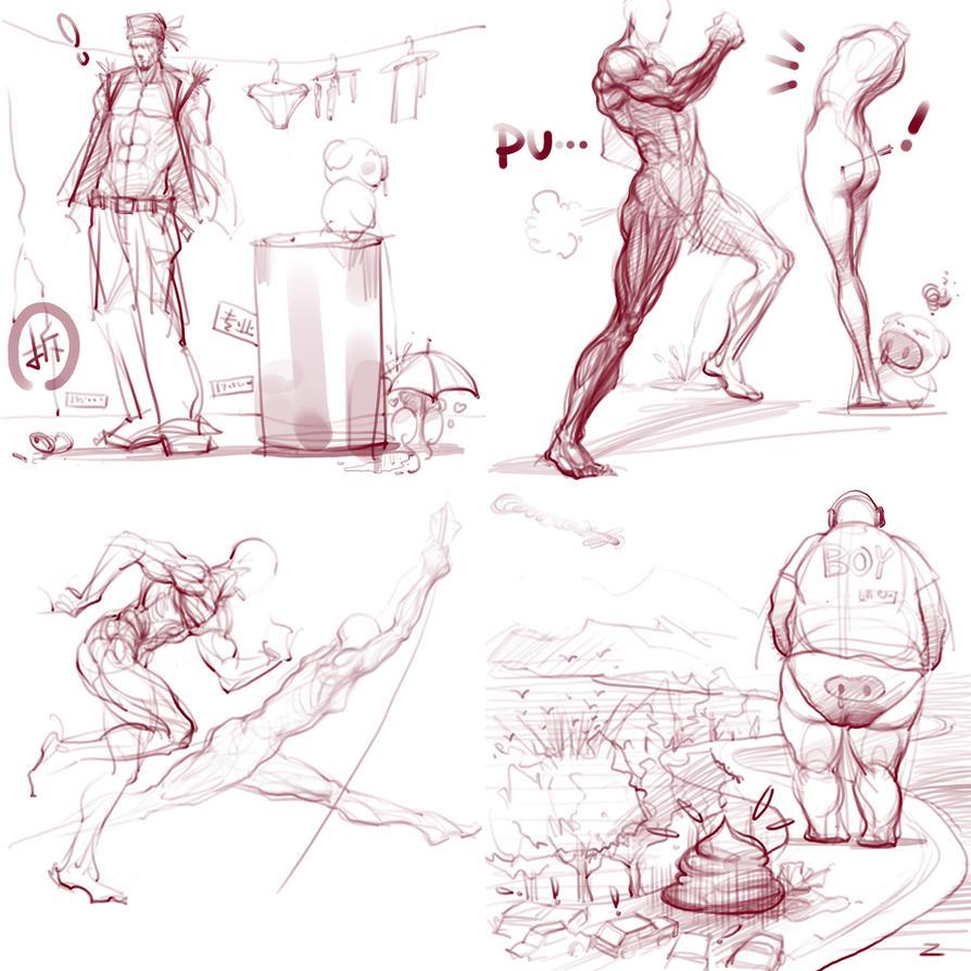 OC doodles dump 3 by zhuzhu