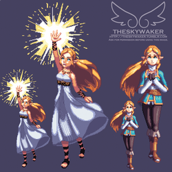 Pixel Breath of the Wild Zelda (1 14 2017) by theskywaker