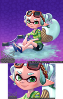 A friend's squid (3 2 2019) by theskywaker