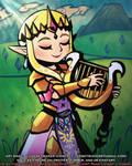 Hyrule Warriors Toon Style Study: Zelda (1 9 2021)