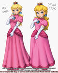 Peach: My style vs Official (3 2 2021) by theskywaker