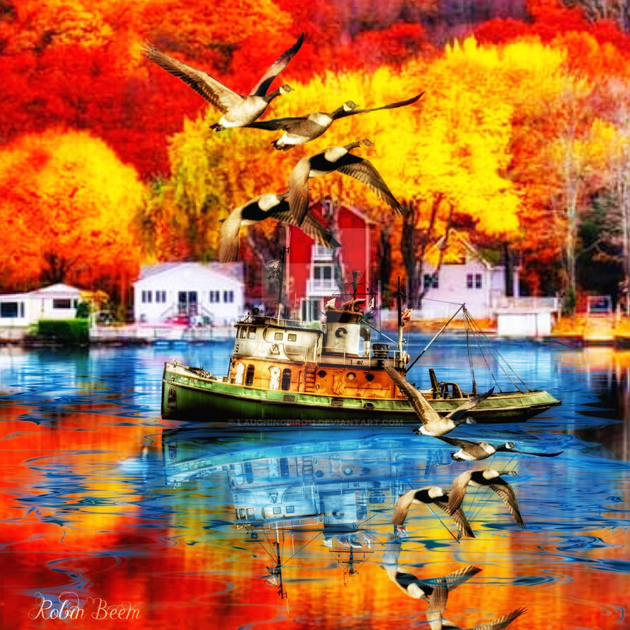 Shrimp boat love by Laughingbird11
