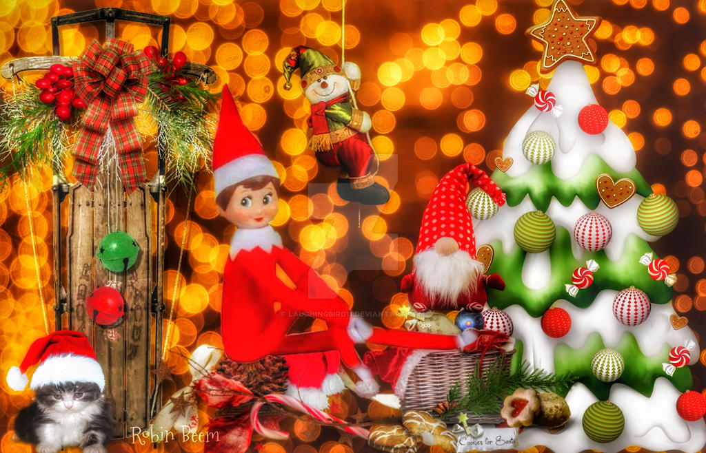 Elf on a shelf by Laughingbird11