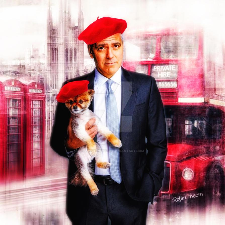Clooney n Paris by Laughingbird11