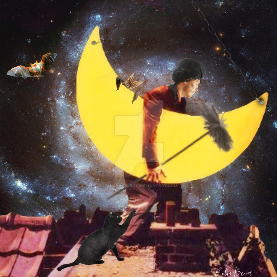 Sweeping the moon by Laughingbird11
