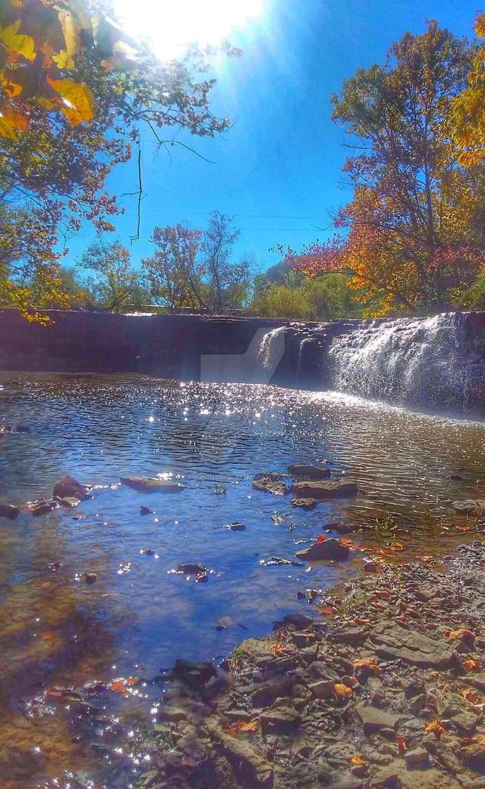 Cedar lake water falls 2 by Laughingbird11