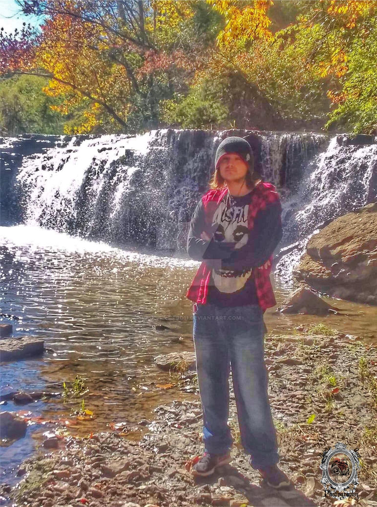 My son by the falls by Laughingbird11