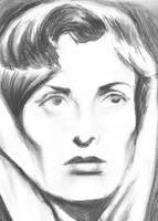 Ingrid Bergman - charcoal by philippeL