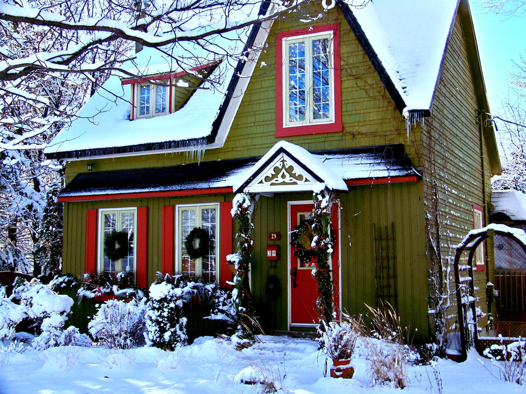 Christmas House Stock by philippeL