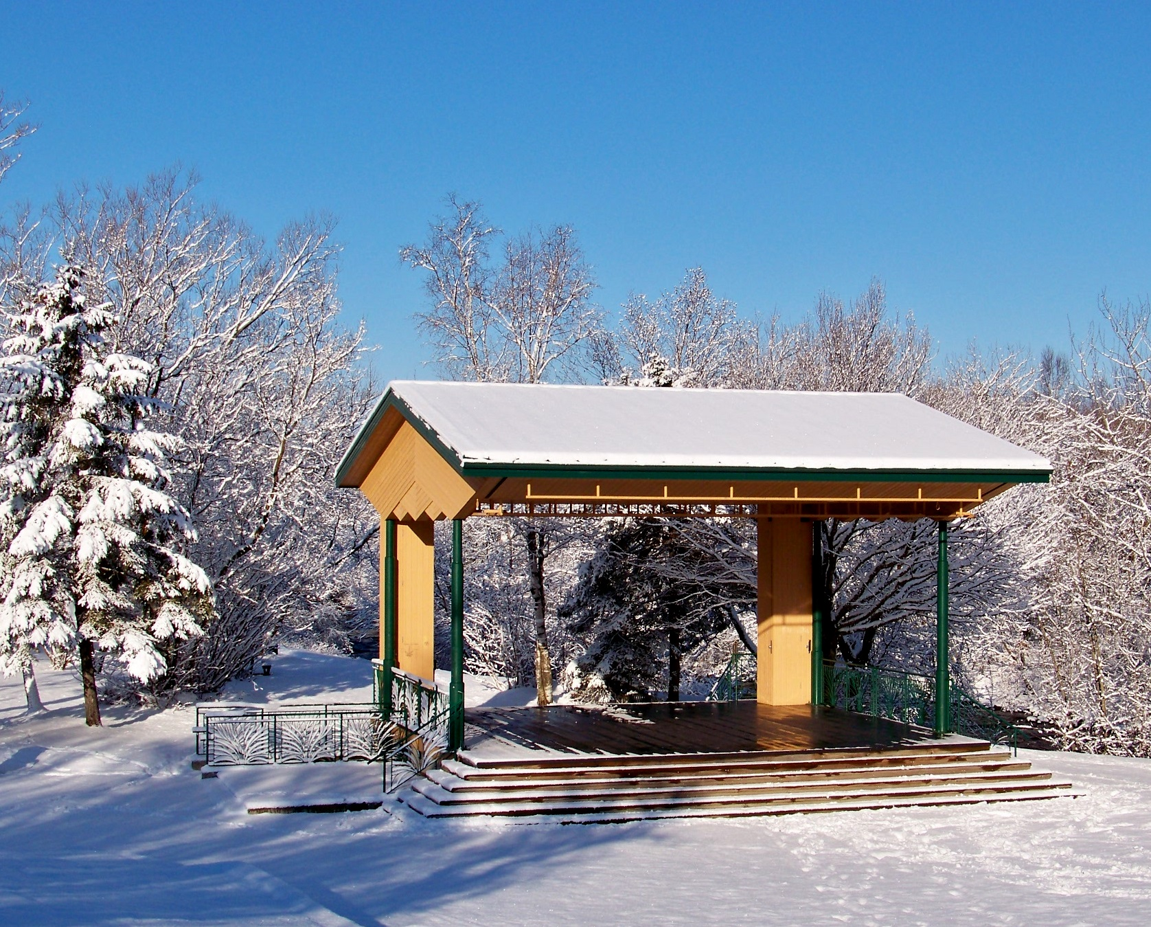 Winterland Kiosk Stock by philippeL