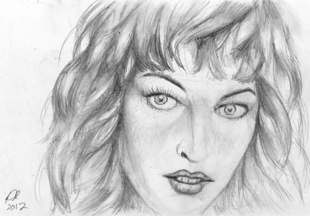 Milla Jovovich Sketch by philippeL