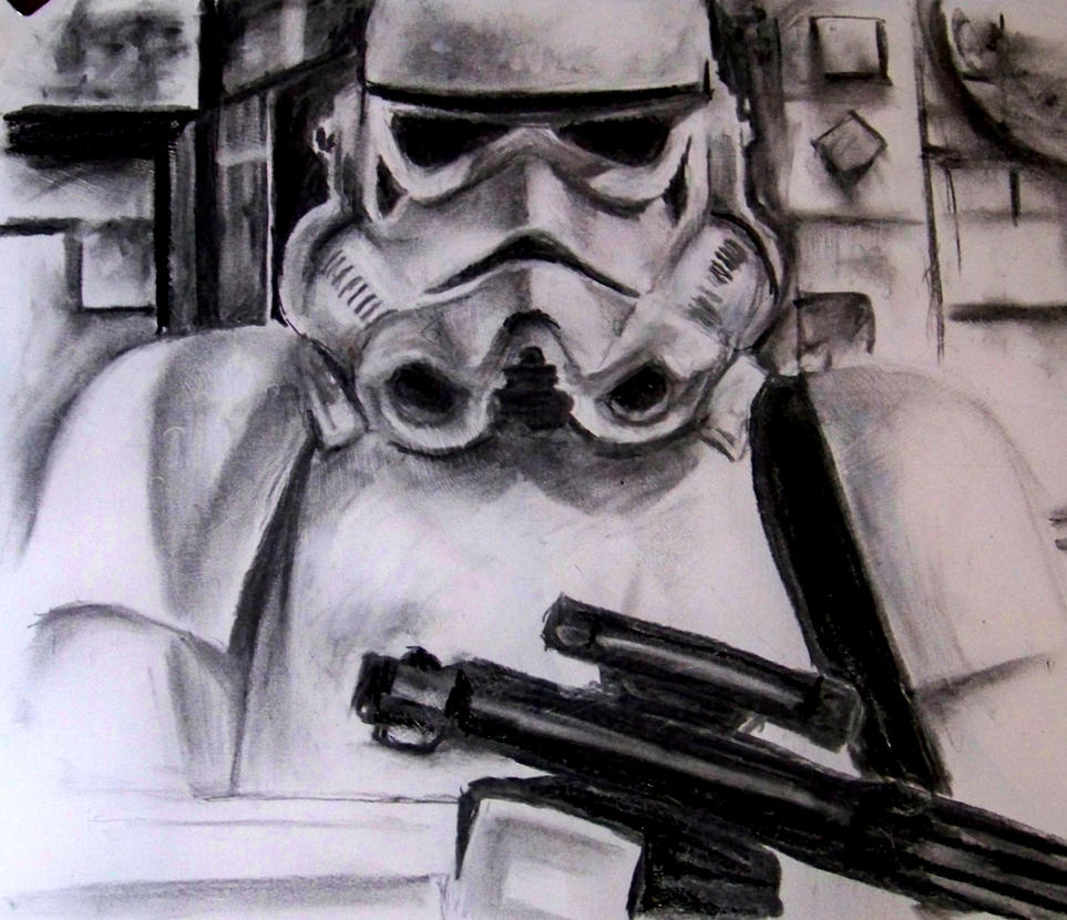Stormtrooper and Rifle by philippeL