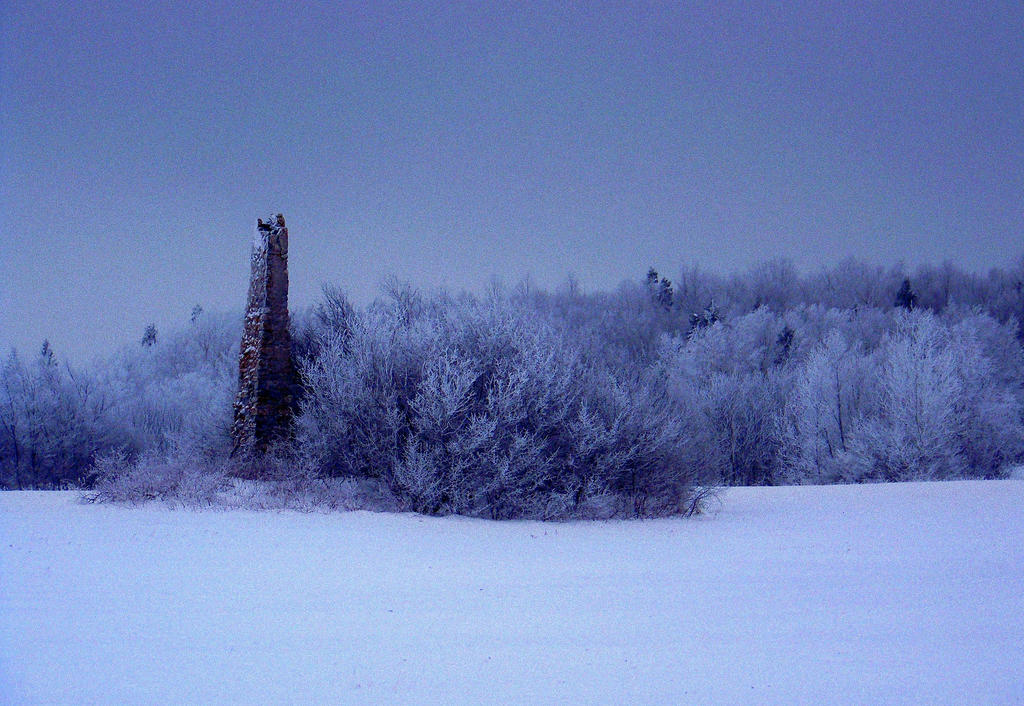 Chimney in Winter by philippeL