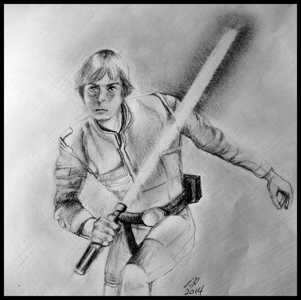 Luke Skywalker in Action by philippeL