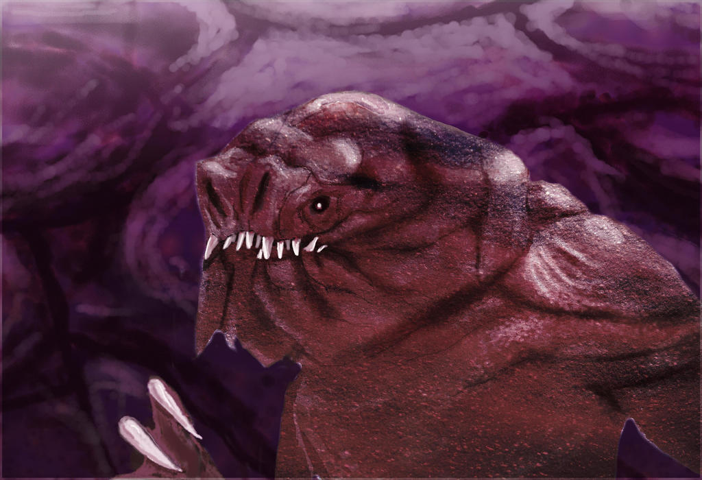 Jabba's Rancor Speed Painting by philippeL