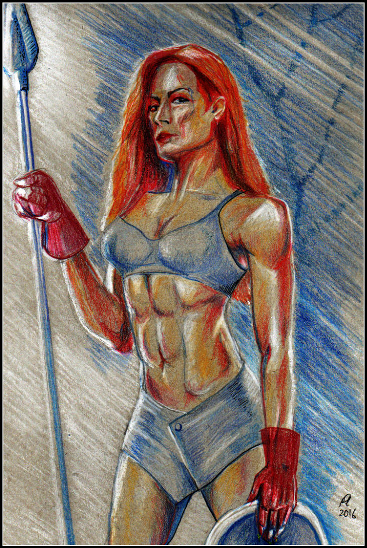 Red-Hair Warrior by philippeL